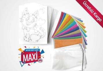 Maxi Kum Boyama Seti - Büyük Kart