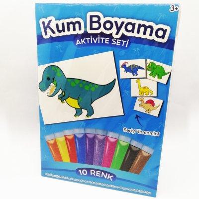 T-Rex Dinozor Kum Boyama Seti
