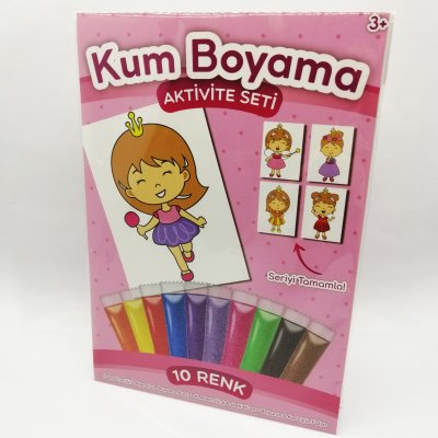Lila Prenses Kum Boyama Seti