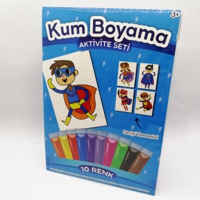 Süper Yumruk Kum Boyama Seti